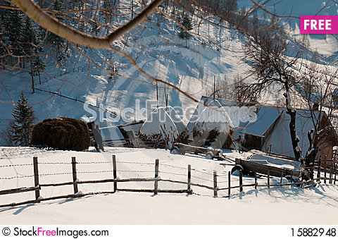 Free Rural Activities In Winter Royalty Free Stock Photos - 15882948
