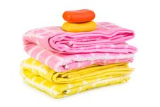 Free Towels And Soap Royalty Free Stock Photos - 15880418