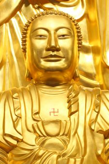 Free A Big Golden Buddha Royalty Free Stock Images - 15880489