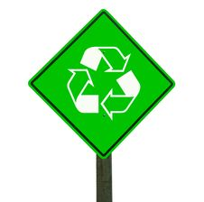 Free Recycle Sign Isolated, Clipping Path. Stock Photos - 15880583