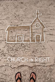 Church Directions Stock Image