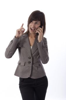 Free Business Woman Talking On The Phone. Stock Photos - 15881233