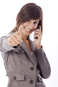 Free Business Woman Talking On The Phone. Stock Image - 15881261