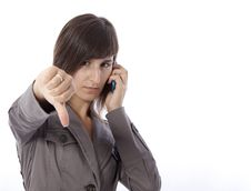Free Business Woman Talking On The Phone. Royalty Free Stock Images - 15881309