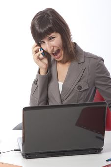 Free Business Woman Talking On The Phone. Royalty Free Stock Photos - 15881338