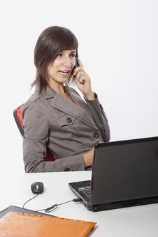 Free Business Woman Talking On The Phone. Stock Photos - 15881423
