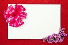 White Paper Blank With Flowers Stock Images