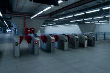 Free Ticket Barrier At Railway Station Stock Photos - 15881443