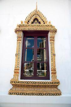Free Thai-style Windows. Stock Photos - 15881453