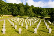 German Military Cemetery Royalty Free Stock Image