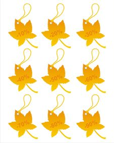 Free Set Of 9 Autumn Tags Stock Image - 15884201