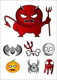 Halloween Characters Stock Image