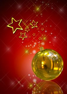 Free 3D Christmas Balls Background Stock Photos - 15884513