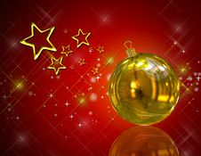 Free 3D Christmas Balls Background Royalty Free Stock Images - 15884539