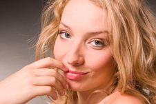 Portrait Of Beautiful Sexual Young Woman Of Blonde Royalty Free Stock Image
