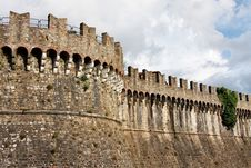 Free Close Up Of Sarzanello Medieval Fortress In Italy Stock Photos - 15885613