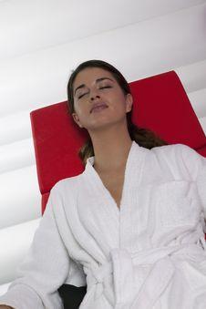 Free Beauty Brunette Having Treatment Stock Image - 15885941