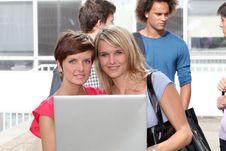 Students At University Stock Photography