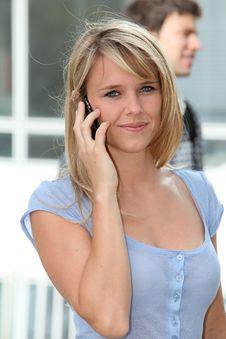 Closeup Of Beautiful Blond Student Royalty Free Stock Photography