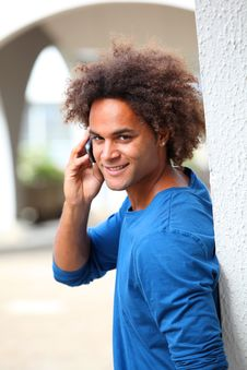 Free Young Man With Blue Shirt Stock Photo - 15886200