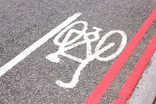 Free Cycle Symbol On Road Stock Photo - 15886270