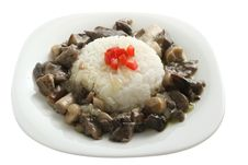 Free Boiled Rice With Mushrooms Royalty Free Stock Photos - 15886498