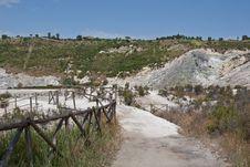 Solfatara Crater Stock Images
