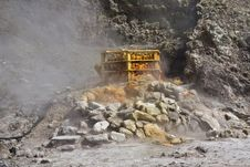 Free Steaming Fumerole Royalty Free Stock Image - 15887076