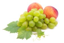 Free Grapes And Peaches Stock Image - 15887151