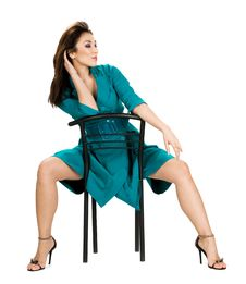 Free Woman Sitting In Chair Royalty Free Stock Images - 15887169