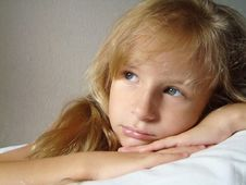 Portrait  Blonde Girl Royalty Free Stock Images