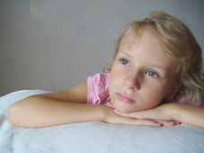 Portrait  Blonde Girl Royalty Free Stock Photography