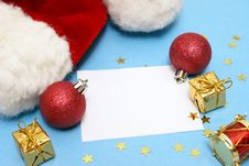 Free Blank Christmas Note Royalty Free Stock Photos - 15888008
