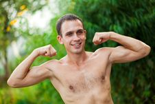 Free Young Man  In Physical Activity Royalty Free Stock Image - 15888266