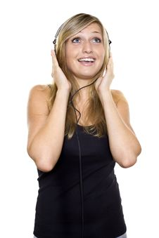 Free Woman Listening To Music And Singing Royalty Free Stock Photo - 15888935