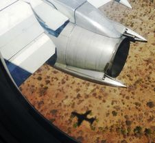 Plane And Shadow Stock Photos