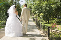 Free Groom And The Bride On Walk In Park Royalty Free Stock Photography - 15891867