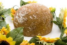 Bread With Sunflower Stock Photography