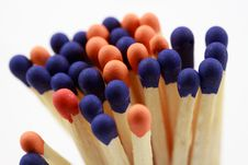 Free Colored Matchsticks Stock Images - 15890304