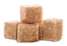 Free Pile Of Brown Demerara Sugar Cubes Royalty Free Stock Photography - 15890347