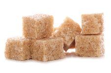 Free Pile Of Brown Demerara Sugar Cubes Stock Photos - 15890503
