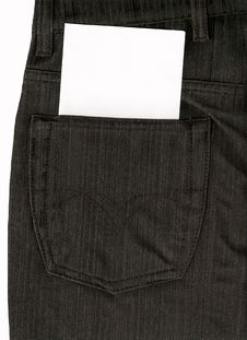 Free Hip-pocket Of Trousers Stock Image - 15890521