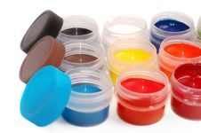 Free Set Of Paints Close Up Royalty Free Stock Photography - 15891407