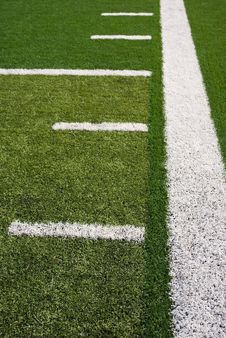 Free Football Field Lines Royalty Free Stock Photography - 15891527