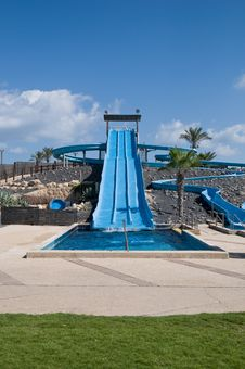 Free Water Slide In The Theme Park . Royalty Free Stock Photo - 15891585