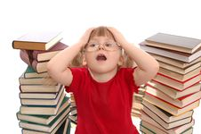 Free The Girl With Books Royalty Free Stock Images - 15891609