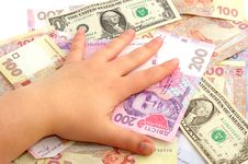 Free Female Hand And Money Stock Photo - 15891680