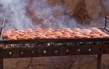 Free Sausage Grill . Royalty Free Stock Photo - 15891715