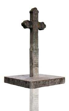 Free Cross Made From Stone Stock Photography - 15891902