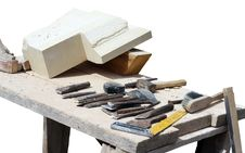 Free Stone Carving Table Stock Image - 15891911